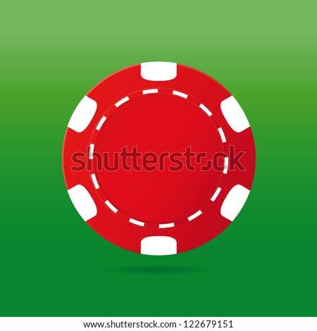 Poker chip. Vector illustration - stock vector