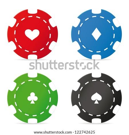 Poker chips set. Vector illustration - stock vector
