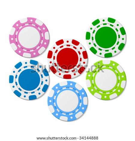 Poker chips. Vector. - stock vector