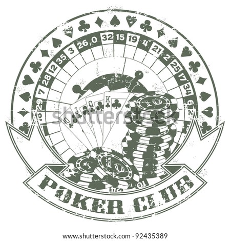 Poker club a stamp - stock vector