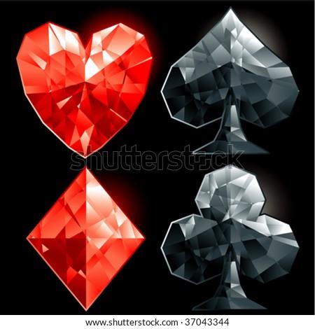 poker gems - stock vector