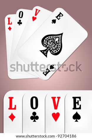 Poker Love - stock vector