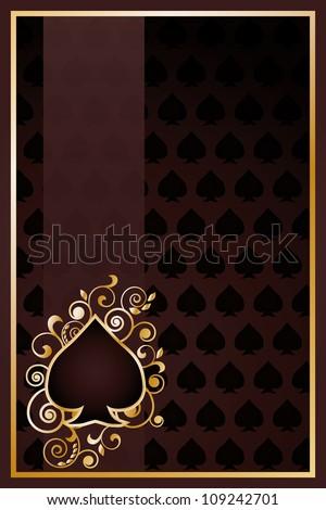 Poker spades card, vector illustration - stock vector