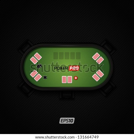 Poker table - stock vector