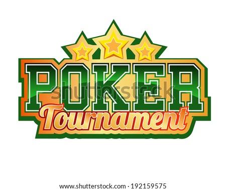 Poker Tournament Header - stock vector