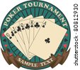 Poker tournament symbol - stock vector