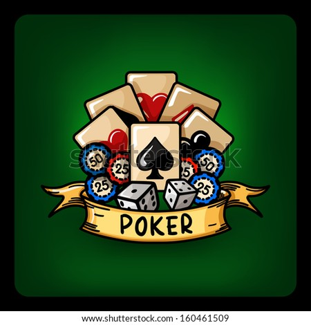 poker vector Illustration - stock vector