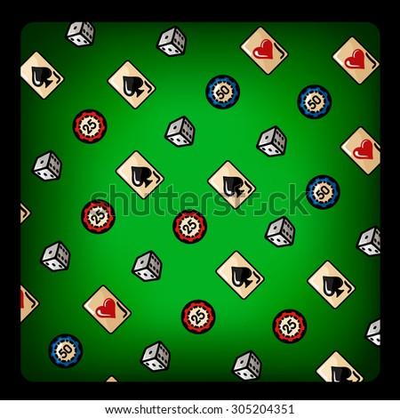 poker vector Illustration - stock vector