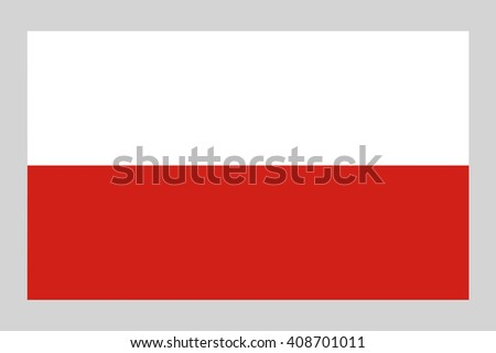 Poland's  official flag, vector illustration - stock vector