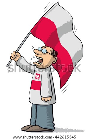 Poland soccer supporter