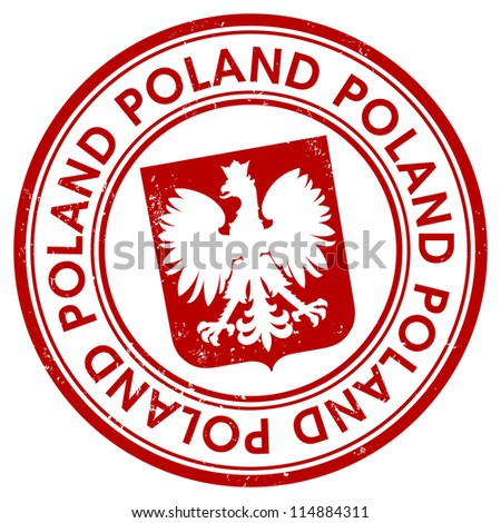 Poland stamp - stock vector