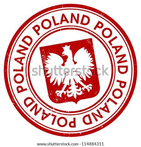 Poland stamp - stock vector