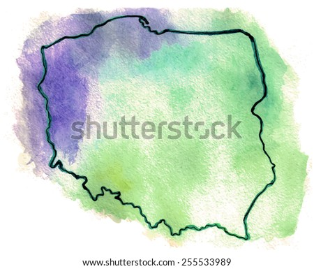 Poland vector map illustration - stock vector
