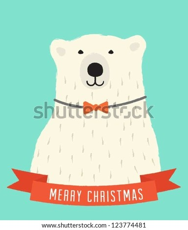 Polar Bear - stock vector