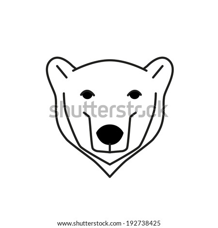 Bear face stock photos images pictures shutterstock for Polar bear face template