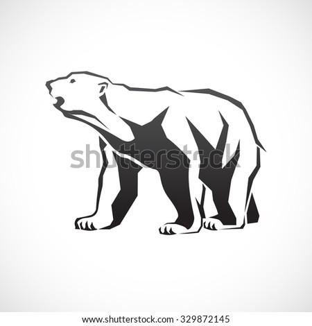 Polar bear icon. - stock vector
