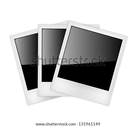 Polaroid photo frames isolated on white background. Vector Illustration - stock vector