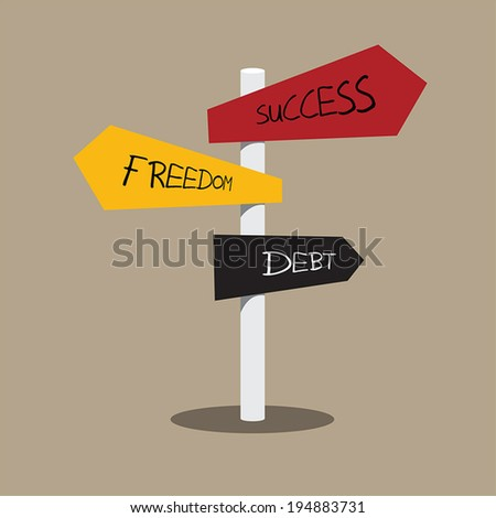 pole and arrow sign of choice, business concept - stock vector