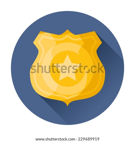 police badge icon - stock vector