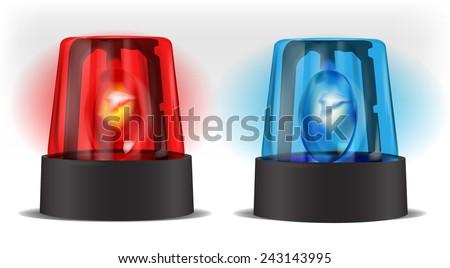 Police beacon - stock vector