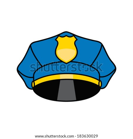 police cap - stock vector