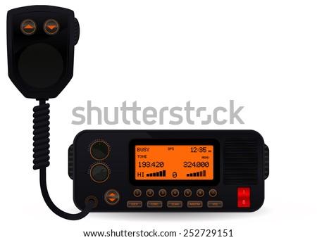 Police car radio transceiver - vector  - stock vector
