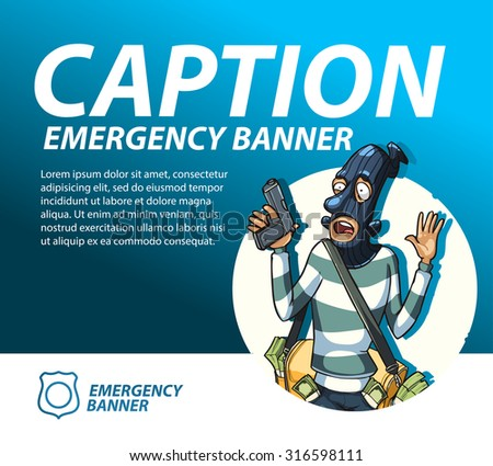 police emergency banner template - stock vector