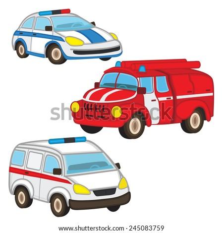 police fire ambulance - vector illustration, eps-10  - stock vector