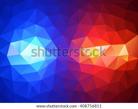 Police flasher lights red and blue abstract background - stock vector