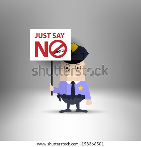 say no to drugs stock images royalty images vectors  police holding message just say no drugs