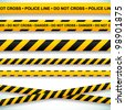 Police line and danger tapes. Vector illustration. - stock photo