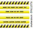 police line tapes - stock photo