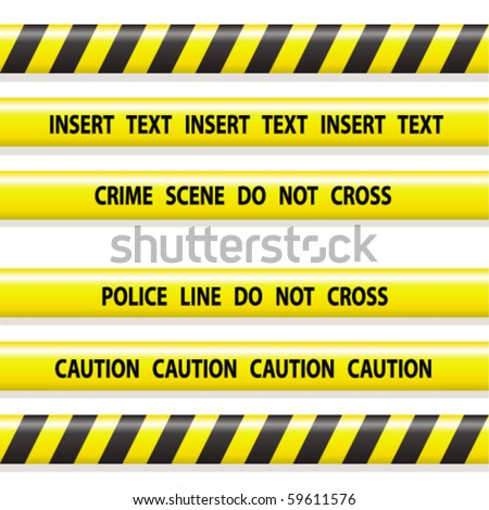 police line tapes - stock vector