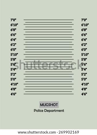 Police lineup or mugshot background,mugshot vector.vector illustration - stock vector