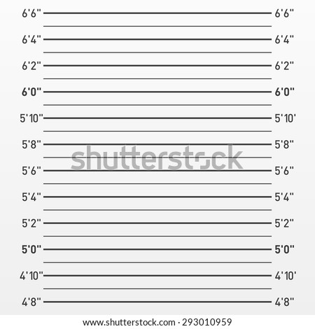 Police lineup or mugshot background. Vector. - stock vector