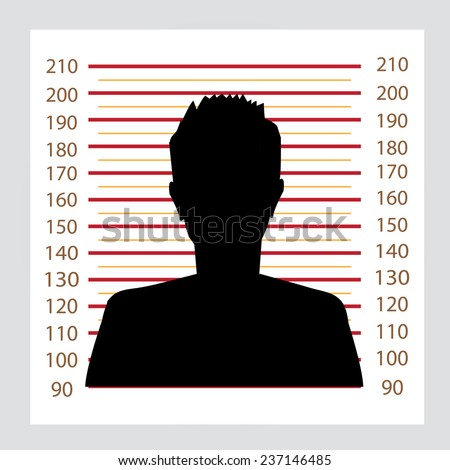 Police lineup or mugshot background with people,mugshot vector - stock vector