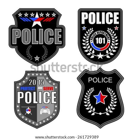 police logos - stock vector