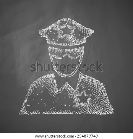 police officer icon - stock vector