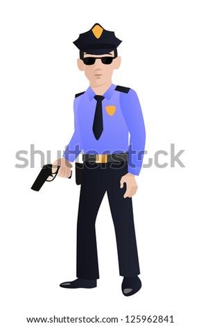 Police officer vector - stock vector