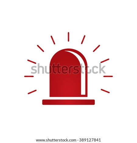 Police or ambulance red flasher siren logo.vector - stock vector