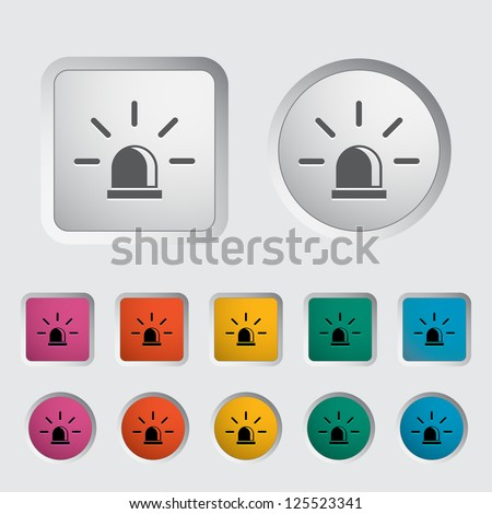Police single icon. Vector illustration. - stock vector
