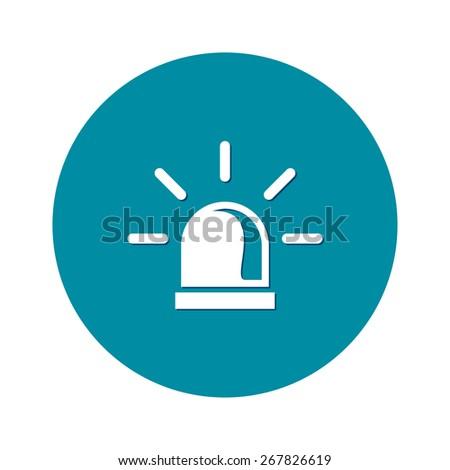 Police siren icon. - stock vector