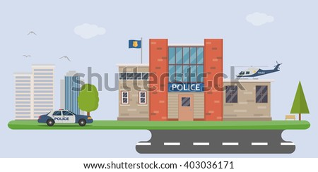 Police  station - stock vector