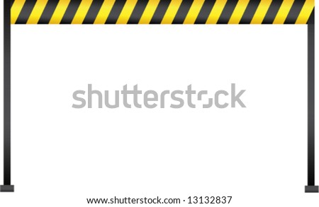 Police tape marking the place of crime - stock vector