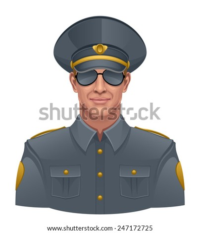 Policeman - stock vector