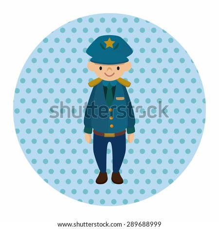 policeman theme elements vector,eps