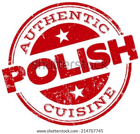 polish cuisine stamp - stock vector
