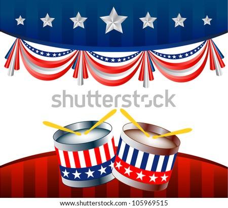 Political Background - stock vector