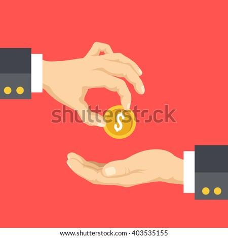 Political campaign finance, donation, fundraising, charity flat illustration. Creative flat design concepts for web banners, printed materials, web sites, infographics. Vector illustration - stock vector