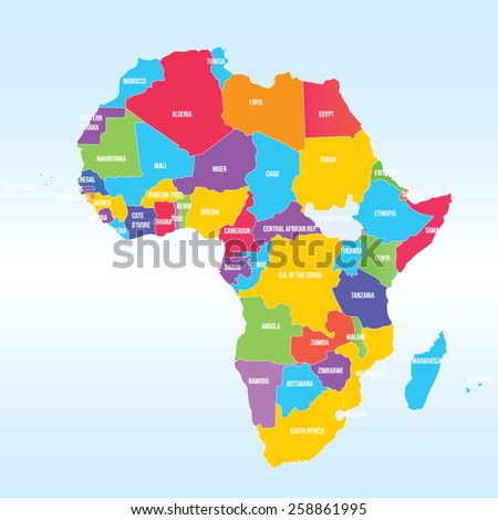 Political Map of Africa - stock vector
